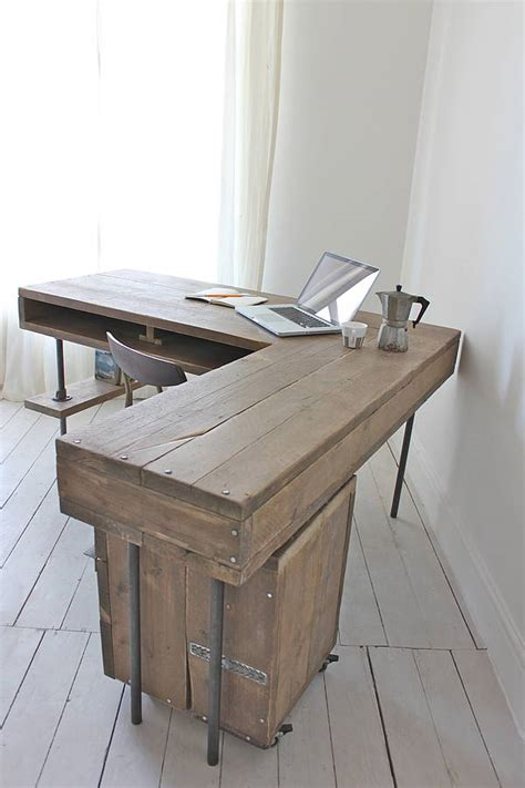 industrial desk l stuart industrial reclaimed board corner desk by urban