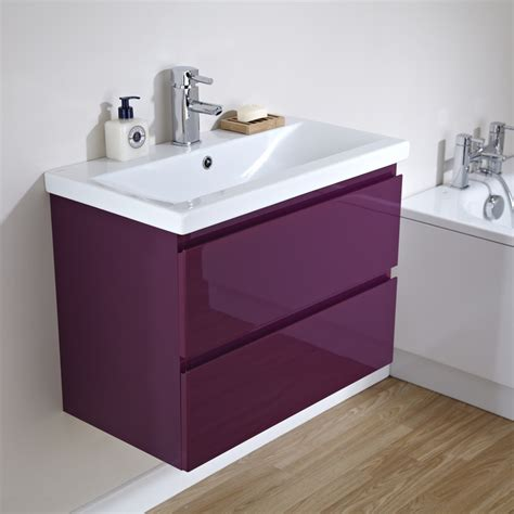 Vanity Units With Drawers For Bathroom 700mm Gloss Plum 2 Drawer Vanity Unit Bathrooms And Stuff Vanity Units