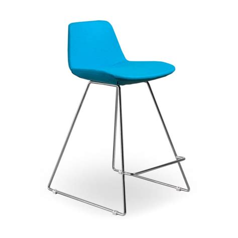 bar stool led turquoise connubia agoura modern turquoise wool counter stool eurway