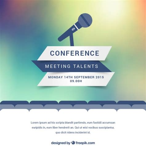 Modern Conference Poster Vector Free Download Meeting Poster Template
