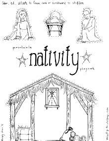 nativity printable playset christmas crafts and snacks on pinterest advent