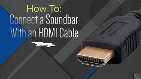 Where To Find To Hook Up With How To Hook Up Your Soundbar With An Hdmi Cable