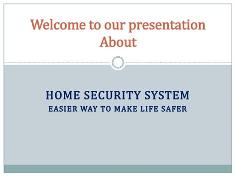 Make Home Security System Home Security