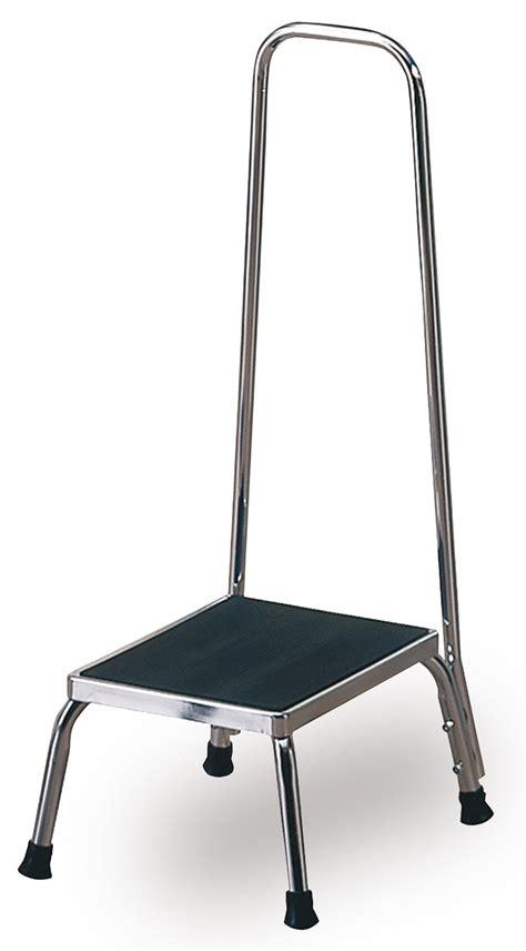 Stool With Handrail techno aide step stool with handrail