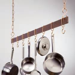 Pot Rack Hammered Copper Hanging Bar Pot Rack Pot Racks At Hayneedle