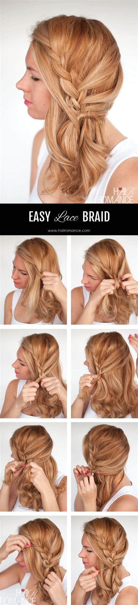 hairstyles to the side tutorial easy lace braid the side swept hairstyle tutorial hair