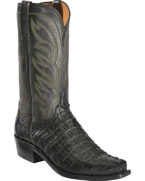 lucchese caiman square toe boots lucchese s landon caiman cowboy boot narrow