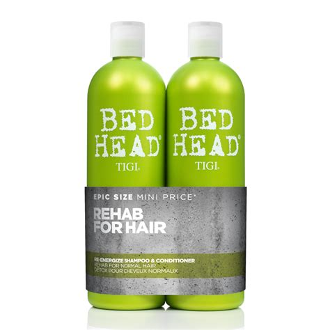 bed head urban antidotes tigi bed head urban antidotes re energize shoo conditioner tween duo 2 x 750ml