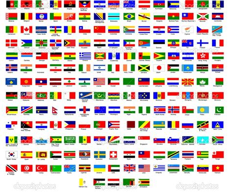 different countries in flags of different countries to use with immigrant