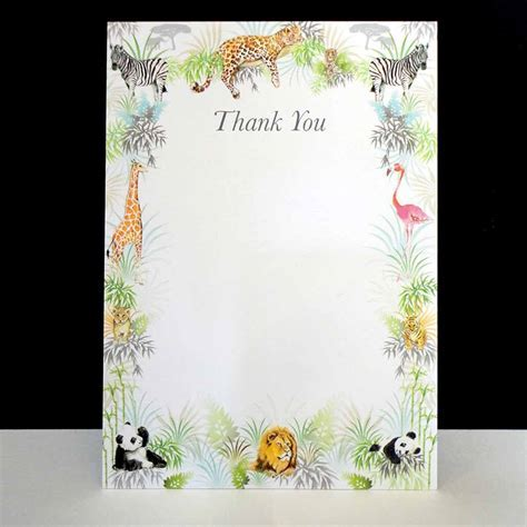 Safari Into The Wild   Pack of Six Thank You Cards