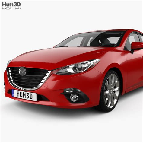 2013 mazda 3 models mazda 3 sedan with hq interior 2013 3d model hum3d