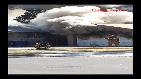 anaheim firefighter falls through roof firefighter falls through roof of blazing california home