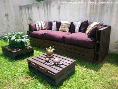 outdoor pallet sofa lounge furniture made from pallets recycled things