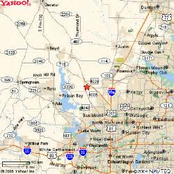 map of haslet national well supplies company office map