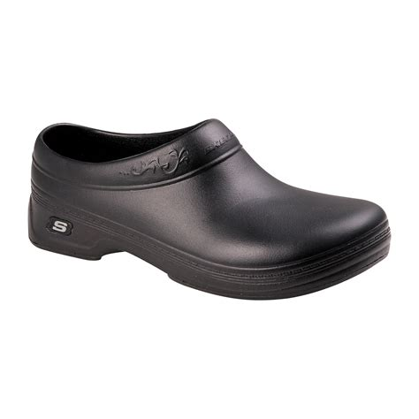 work clogs for skechers work womens slip resistant clog black
