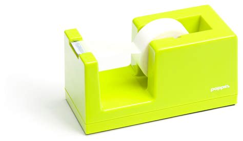 Tape Dispenser Lime Green Modern Desk Accessories Lime Green Desk Accessories
