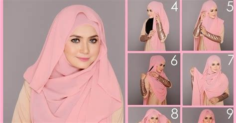 4 tutorial berjilbab modern elegan style 38 model tutorial hijab segi empat modis simple elegan