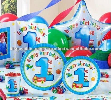 Lilin Ultah Ulang Tahun Anak My 1st Birthday anak laki laki bermain persediaan 1st birthday perlengkapan pesta bertema pesta ulang tahun dan