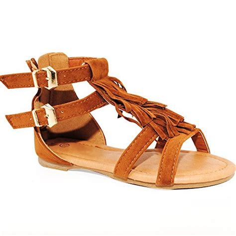 gladiator sandals for toddlers baby toddler and strappy buckled fringe