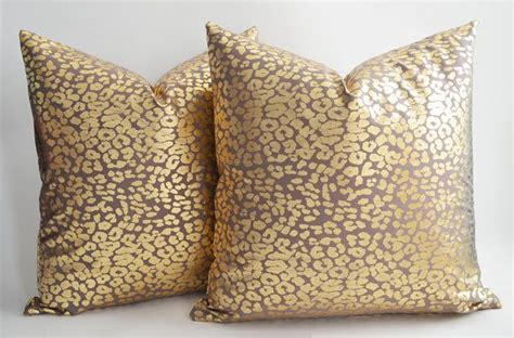 Gold Pillows Decorative by Set Of 2 Leopard Decorative Pillow Gold Pillow