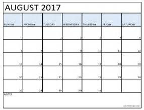 Best Calendar Templates by 10 Best Free August 2017 Calendar Printable Template