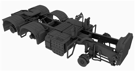 N Chasis 6 215 2 4 tag chassis for swedish truck a n model trucks
