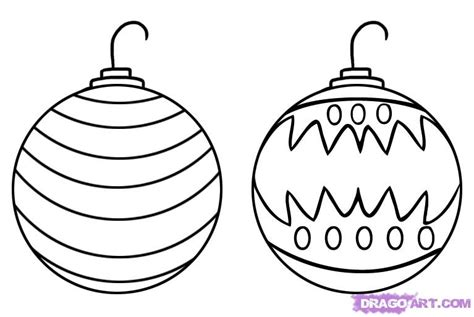 how to draw ornaments step by step stuff seasonal free drawing