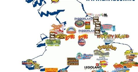 theme park uk map uk map of theme parks great days out pinterest parks