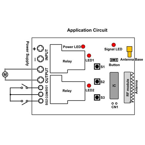 30a dc motor remote controller with manual button and