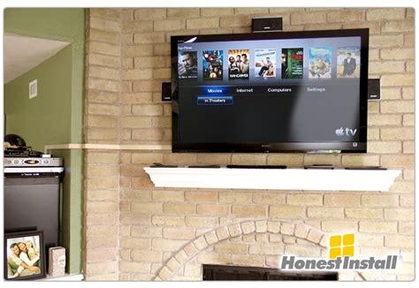 Mount Tv Above Fireplace Hide Wires by Mount Tv Brick Fireplace Hide Wires Fireplace Design And