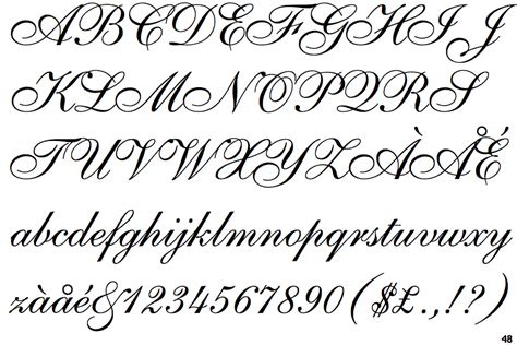 identifont shelley script allegro