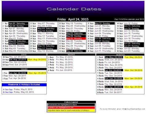 Court Calendar Court Date Calendar