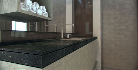 Black Caesarstone Countertops by Belgian Moon Colisseum Marble Kitchen Bath