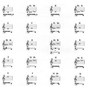 Letters with the flute fingerings chart success