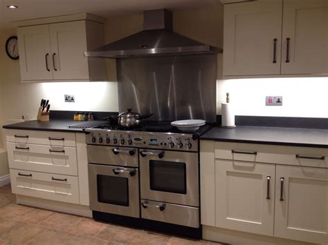really funky modern kitchen induction hob cooker and oven and hob slate surrounds custom made in the uk