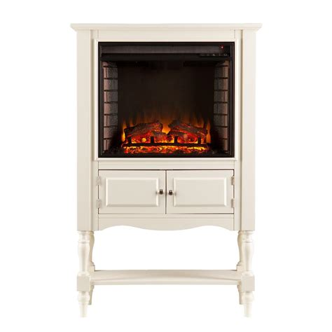 antique white electric fireplace southern enterprises horatio 32 25 in convertible tower