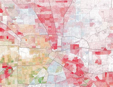 houston map by race maps show visible racial divides in major cities