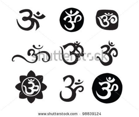 ohm symbol tattoo designs aum designs om aum symbol stock vector 98839124