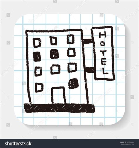 how to do hotel on doodle fit hotel doodle drawing stock photo 329760560