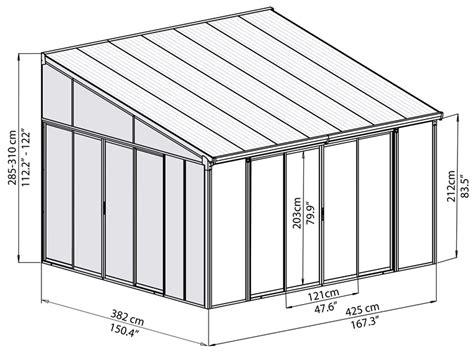veranda 4x4 veranda sanremo 4x4 25m wit dancovershop nl