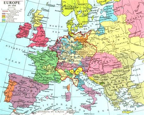 atlas europe map 1519 ad europe