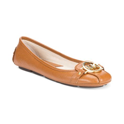 michael kors shoes fulton flats michael kors michael wide width fulton moc flats in brown
