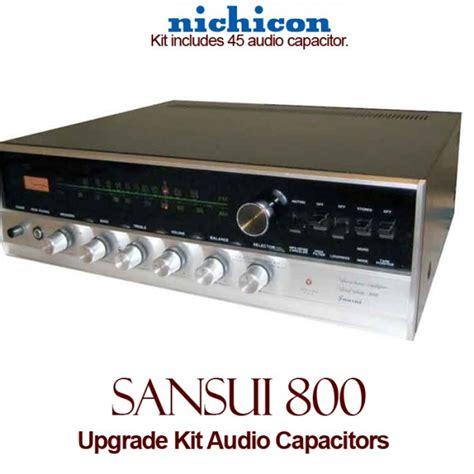 capacitor upgrade sansui 800 upgrade kit audio capacitors