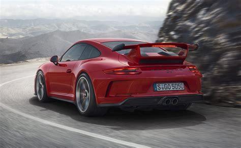 porsche 911 gt3 2018 porsche 911 gt3 unveiled with 500hp 4 0l