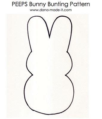 peep template patterns tutorials and bunnies on