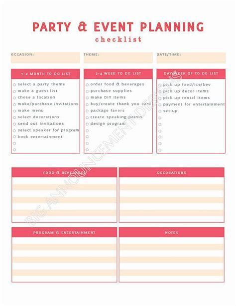 birthday party planner template elegant 5 event planning checklist