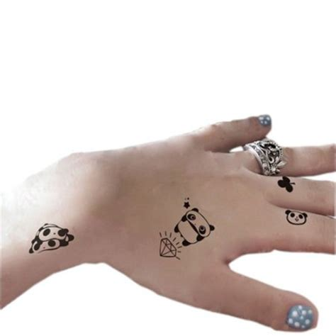 panda tattoo temporary buy set of 2 lovely panda tattoo stickers removable