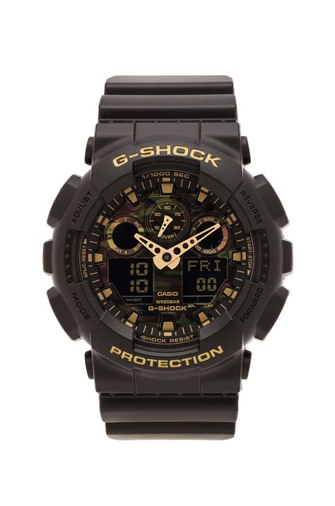 g shock ga 100 black kw g shock ga 100 camouflage in black for lyst