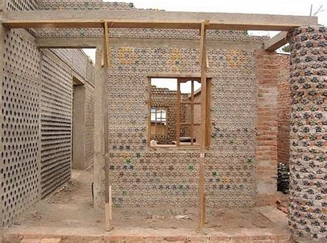 Man Builds An Amazing House With Recycled Plastic Bottles