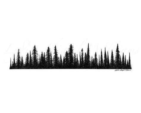 treeline tattoo ideas pine tree tree tattoos